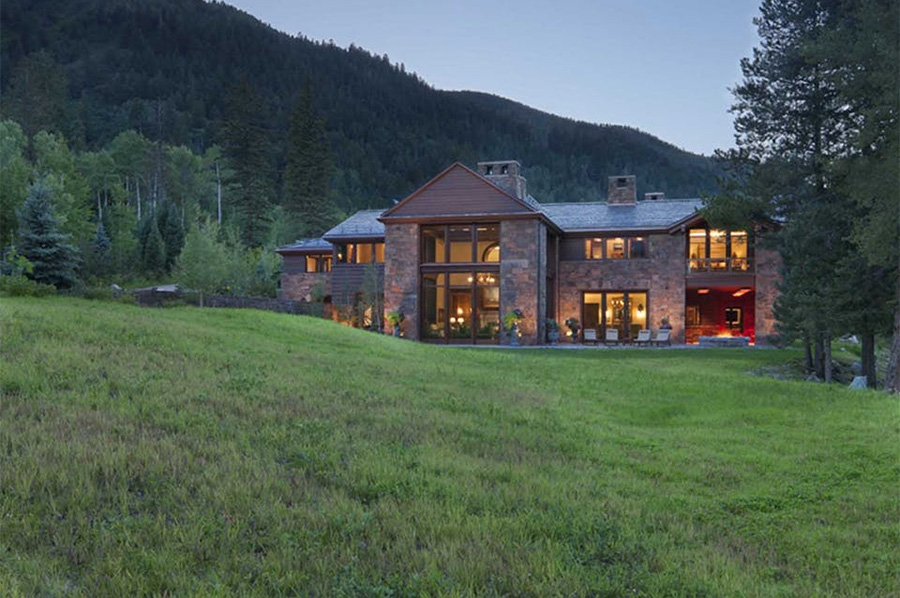 Riverbend home in Aspen, Colorado, designed by architect Arthur Chabon